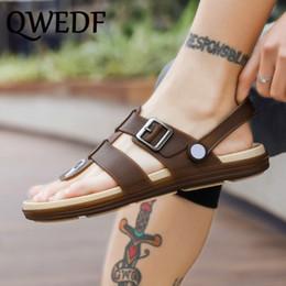 2019 koreanische männer sandalen QWEDF 2019 neue Herren Hausschuhe Slip Trend Flip Flops koreanische Sommer Strand Schuhe Student Persönlichkeit Sandalen SC-36 günstig koreanische männer sandalen