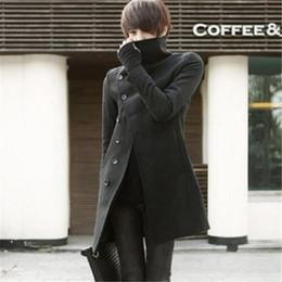 8b41b9d917874 Çin 2019 Yeni erkek Kore rahat Resmi rüzgarlık düzensiz yün ceket erkekler  moda ince uzun palto