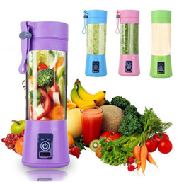 Cores de alimentos on-line-Portátil Juicer Elétrico USB Mini Fruit Mixers Juicers Fruit Extractores Food Milkshake Multifuncional Juice Maker Máquina 4 Cores