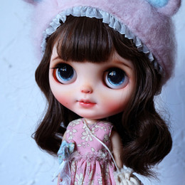 cat doll eyes Promo Codes - Blyth Doll NBL 1 6 BJD Customized Frosted Face,big eyes Fashion girl makeup Ball Jointed Doll Life style series 4 T200428