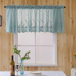 Rideaux de cuisine en dentelle en Ligne-Rideau de fenêtre SunShade Elegant Lace 1 panneau de rideaux de douche Hôtel Cuisine solaire