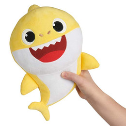 5a44185dbd4 Baby Shark Doo Doo Official English Song Doll Singing Plush LED Lighting  Cartoon Shark Stuffed   Plush Music Toys Pink Yellow Blue