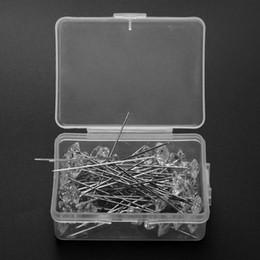 2019 pasadores de cabeza de costura 50 unids / set Rhinestone Head Pins DIY costura herramienta de la aguja de la costura de costura Pin Craft Tool accesorios de costura pasadores de cabeza de costura baratos
