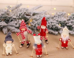 Creative Christmas decorations Christmas ski doll for Christmas tree pendant mini doll for party von Fabrikanten