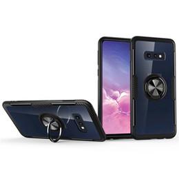 Металлический галактический футляр для телефона онлайн-Для Samsung Note 9 Case Металлическое Кольцо Автомобильная Подставка Силиконовый Чехол для Samsung Galaxy S10 S9 Plus Телефон Задняя Крышка Для Galaxy S10e