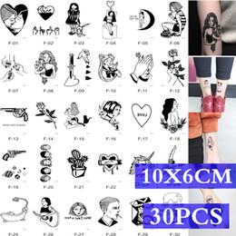 2019 kinder tattoos großhandel MB 30 teile / satz Körperkunst Wasserdicht Temporäre Tätowierung Für Frauen und Männer Rose Blume Katze Wolf Gesicht 3D Tatoo Aufkleber Kinder Großhandel rabatt kinder tattoos großhandel