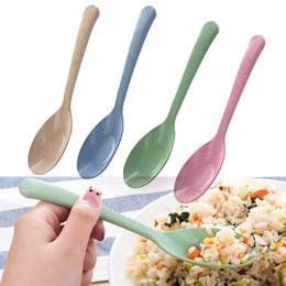 Пшеничный крем онлайн-4шт соломы пшеницы кофейная ложка совок мороженого совок десертная ложка творческий столовые приборы кухонные аксессуары