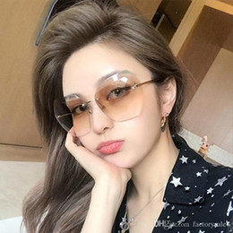 7c6c49753fe6 Sexy Rimless Oversized Sunglasses Women Vintage 2018 Red Pink Luxury Brand  Sun Glasses For Female Rivet Big Frame Male Shades