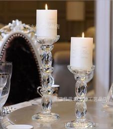 2019 castiçais de pilar de vidro Castiçal de cristal Castiçal De Vidro Castiçal Pilar para Decoração de Casa Festas de Casamento Presentes Criativos Estilo Europeu S L Tamanho desconto castiçais de pilar de vidro