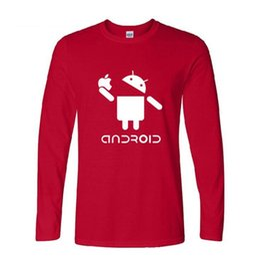 2019 2xl robot Mens designer de camisetas Primavera Best seller Europa e Estados Unidos manga comprida Android Android robô impressão roupas masculinas desconto 2xl robot