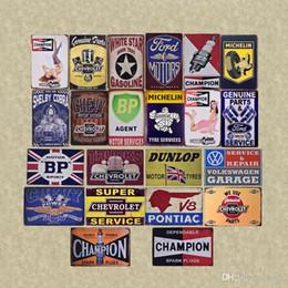Pegatinas de pared coches camión online-Vintage Decoración Motors Camiones Coches Bus Sales servicio de piezas de metal de la vendimia signos platos de estaño cartel pared pegatinas decorativas Pub Bar ABOX