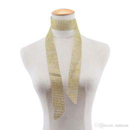 Moda Largo Collar de Gargantilla de Cristal de Oro Negro Rosa Roja Diamante Rojo Rehinstone Collar Bufanda de Verano para Mujeres Joyería 162073 desde fabricantes