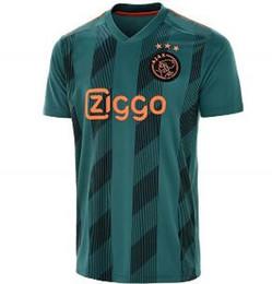 jerseys de epl Rebajas 2019/20 Ajax local rojo visitante negro Jersey de fútbol Ajax Camiseta de fútbol personalizada # 9 HUNTELAAR # 34 NOURI # 24 DOLBERG uniformes de fútbol