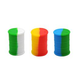 Contenedores de silicona barril de aceite online-Forma de barril de aceite Cera Jarro de aceite 16 ML Volumen FDA Contenedor de cera de silicona Gran volumen Agradable Forma de Barral de aceite Tamaño portátil