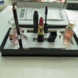 caixas de jogo de rímel Desconto 2018 Mais Novo Famosa Marca de Luxo conjuntos de maquiagem perfume batom delineador rímel 5 em 1 com caixa dhl frete grátis