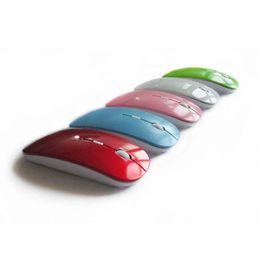 nouveaux ordinateurs portables en gros Promotion 2019 couleur bonbon ultra mince souris sans fil et récepteur 2.4G USB optique coloré offre spéciale souris d'ordinateur STY175