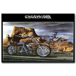 Ghost Rider David Mann Motosiklet Sanat İpek Poster 24x36 inç 24x43 inç 054 nereden