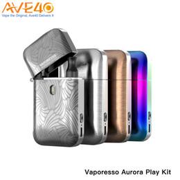 Gold gespielt online-Vaporesso Aurora Play Pod Kit Eingebauter 650-mAh-Akku mit 1,3-Ohm-2-ml-Pod-Flip-and-Fill-Design 100% authentisch