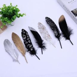 Decorazioni fatte a mano online-10-50pcs Craft piume d'oca abbigliamento gioielli fatti a mano decorazione 14-20 cm