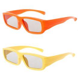 Vidros 3D passivos polarizados circulares do tamanho das crianças para o filme real do cinema da tevê de D 3D de