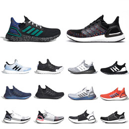 Scarpe da ginnastica legate online-James Bond 007 x adidas Ultra Boost 2020 Black Multicolor ISS US National Lab X Ultra boost 4.0 Ultraboost 20 6.0 5.0 Mens Running shoes Oreo men women sports sneakers