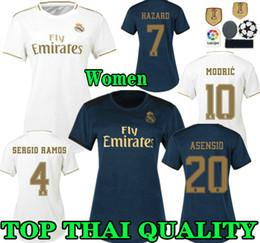 maglia da calcio Real Madrid femminile 19 20 Home HAZARD 2019 2020 lady RONALDO ASENSIO BALE RAMOS ISCO MODRIC Women Away terza maglia da calcio da