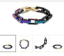elos em forma de diamante para corrente Desconto Hot marca designer de pulseira para as mulheres ladies titanium aço moda pulseira para mulheres e homens monograma jóias presentes m68242