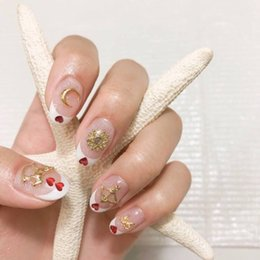 Health & Beauty Pale Pink Glitter Silver Flowers Hand Painted False Nails Nail Care, Manicure & Pedicure Short Round Oval 023