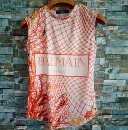 Deutschland 2019 neue Bar klassische Weste ärmellose vertikale Streifen T-Shirt Baumwolle einfarbig Trend Damenbekleidung Versorgung
