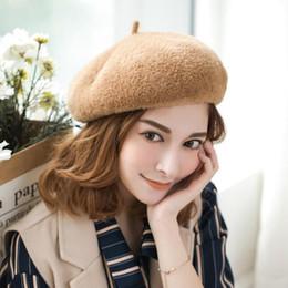 Kış Sıcak Bayan Bere Yüksek Kaliteli Vizon Saç Bere Japon Sanatçı Katı Kap Kaput Kapaklar Sıkı Düz Şapka Şık Fötr Açık Şapka supplier cap japanese hats nereden japon şapkalı şapka tedarikçiler