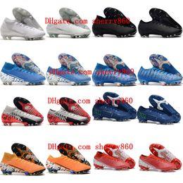 2019 mens morsetti di calcio scarpe da calcio Superfly 7 Elite SE Neymar FG all aperto mercuriali Vapori 13 Elite stivali FG CR7 calcio Ronaldo