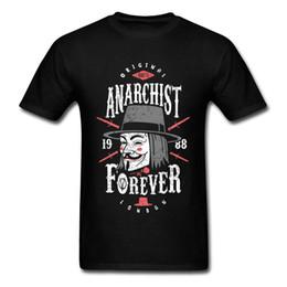 Argentina Anarquista Forever T-shirt V Para Vendetta Tops Hombres Máscara Camiseta Vintage Tops Negro Tees Algodón Camisetas Ropa elegante supplier black v mask Suministro