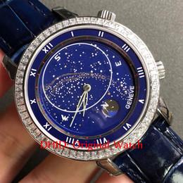 2019 relógios mecânicos unisex azuis Relógios unissex 5102 Star Blue Dial Diamante Bisel Mecânico Automático Gravação Caso Pulseira De Couro Das Mulheres Dos Homens Relógios aaa Relógio De Luxo A109 desconto relógios mecânicos unisex azuis