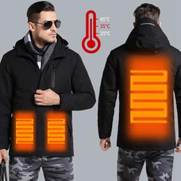 Blusa windstopper on-line-Casais USB Jacket aquecida Homens Mulheres Plus Size Waterproof Jacket Men baixo Cotton Caminhadas casaco quente Chuva Regenjacke Herren