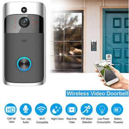 wifi türklingel kamera Rabatt Drahtlose Automatisierungsmodule Smart WiFi Türklingel IR Video Visual Ringkamera Intercom Home Security Drahtlose Verbindung