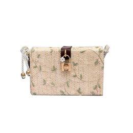 Соломенное ткачество онлайн-Women's straw bag fashion Tote bag rattan hand-woven shoulder outdoor leisure summer beach