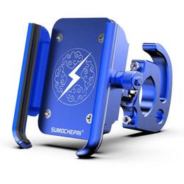 Drehtelefon neu online-Neue Mountainbike CNC Handyhalter Motorrad Elektroauto Universal Rotary Navigation Aluminiumlegierung Handy Ständer # 80245