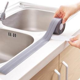 150pcs autoadesivo Cozinha etiqueta cerâmico impermeável anti-umidade PVC adesivo de parede do banheiro Canto Linha Pia Adesivos 3,8 * 320 centímetros de