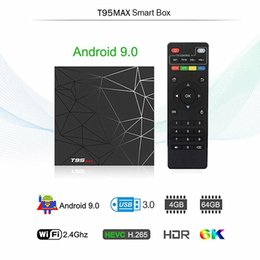 hd smart player Promo Codes - T95 Max Android 9.0 TV Boxes Allwinner H6 quad core 4G 32G 64G support 6K Ultra HD smart tv media player