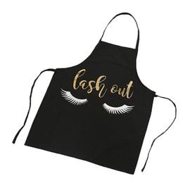 Adorável Padrão de Pestanas Bronzing Avental Cozinha Mulheres Adulto Casa de Cozinha Baking Aventais de Limpeza Utensílios de Cozinha Acessórios de Cozinha (B de