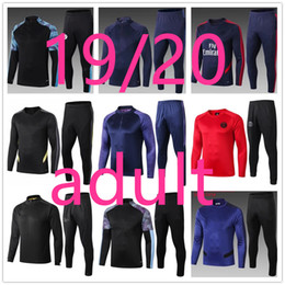 Chándales de diseñador para hombre online-19 20 chandal tottenham arsenal manchester city liverpool chelsea manchester united Adulto Chándal de fútbol 19-20 chandal de futbol soccer tracksuit football training suit jogging