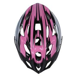 Viseira rosa on-line-Bicicleta de Ciclismo Adulto Bicicleta Bonito Carbono Capacete com Visor Rosa Cabeça Circunferência 54-65 cm / Cabeça-largura Abaixo de 16 cm