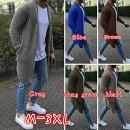 Mens Maxi Sweater Dress Outono Inverno Long Sleeve Cardigan Designer Knitwear Homens Knit Sweater roupa Coats de