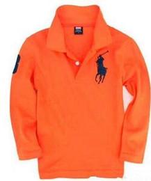 t-shirt dressing stil junge Rabatt 0521692 Top-Qualität Großhandel Art und Weise scherzt Junge Polo-Shirts Schuluniformhemd Junge T-Shirt lange Ärmel Baumwollkleidung für 2-7 Jahre