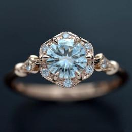 2019 canali impostati 10pcs Anelli di moda per le donne anello di nozze romantico anello in oro bianco con zaffiro bianco gioielli in lega riempita