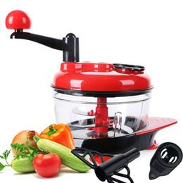 2019 manual picador de frutas Manual Food Processor Chopper Multifuncional Carne Vegetal Fruta Chopper Moedor De Carne Manual Moedor manual picador de frutas barato
