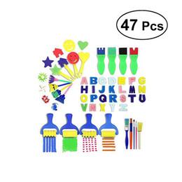 47 pièces Kids Kids Paint Kits Early Learning Learning Comprend des éponges de peinture et 26 lettres en anglais pour Kids Art Craft ? partir de fabricateur