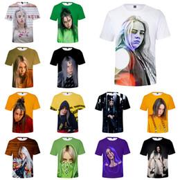 2019 t-shirts imprimés pour filles Billie Eilish Clothes 33 Designs Billie Eilish 3D Imprimé Enfants Filles Femmes Mens T-shirts Hip Hop Tee Shirt Sweats Vêtements SS321 promotion t-shirts imprimés pour filles