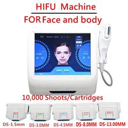 maquinas de ultrasonido para arrugas Rebajas Cartuchos de repuesto Consejos para ultrasonido focalizado de alta intensidad HIFU Máquina Lifting facial Eliminación de arrugas Anti envejecimiento DHL rápido delive