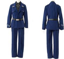 Costume feito uniforme on-line-Nova 2019 Uniform APH Axis Powers Hetalia Prússia Gilbert Cosplay Exército Costume Custom Made Marinha Unifor